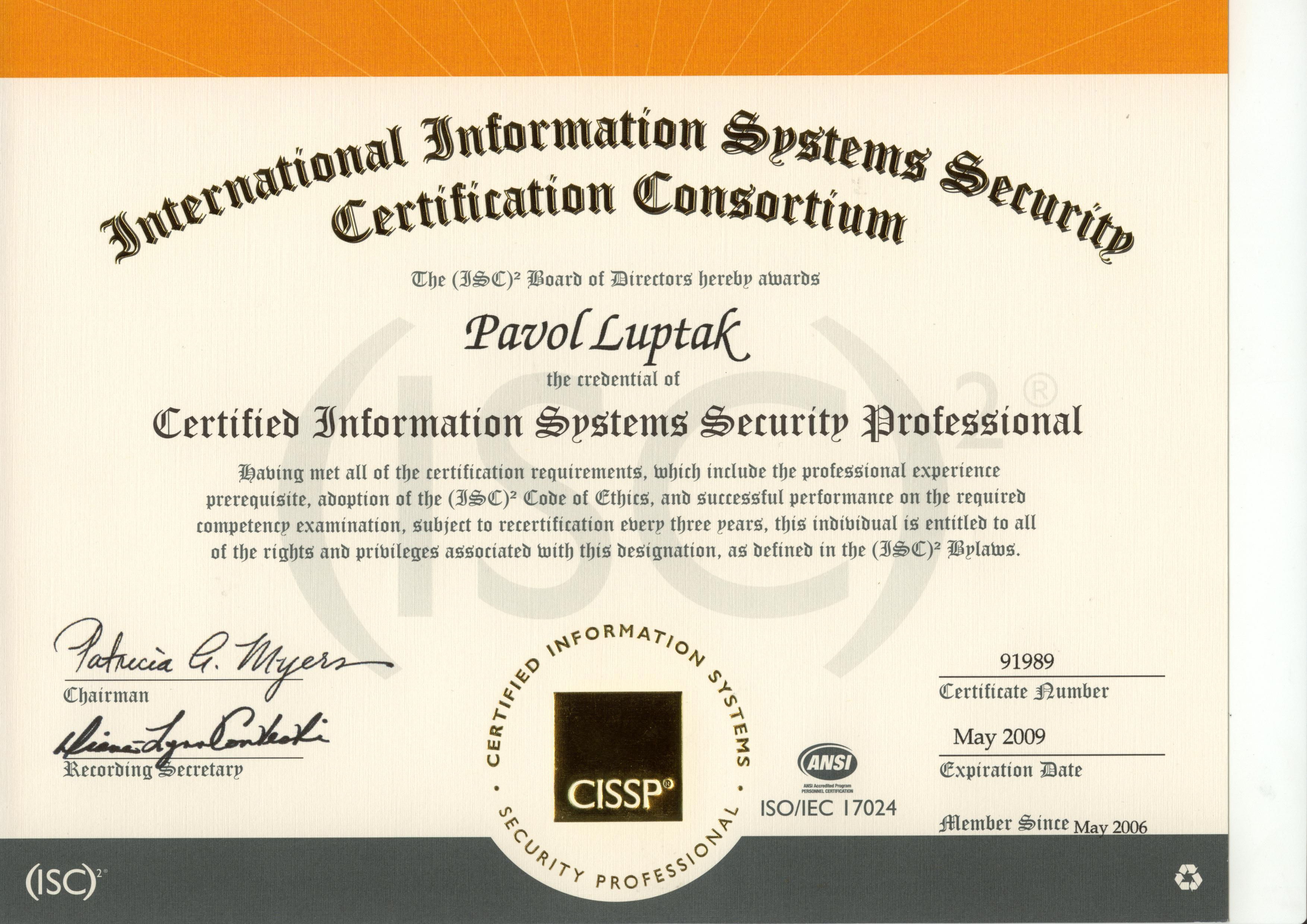 Curriculum vitae certified information systems security professional cissp xflitez Images